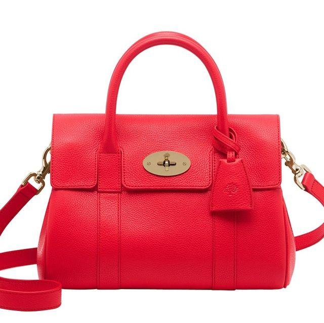 Mulberry Small Bayswater Grained Leather Bag