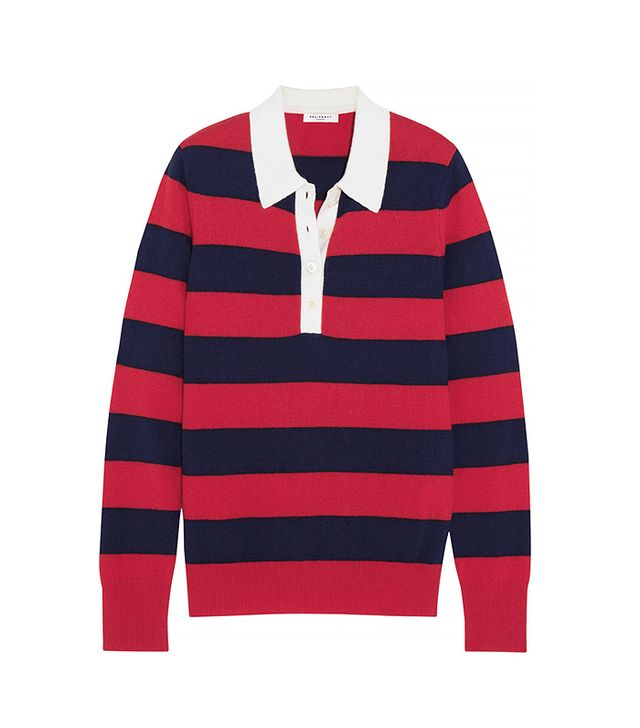 Equipment Deandra Striped Cashmere Top