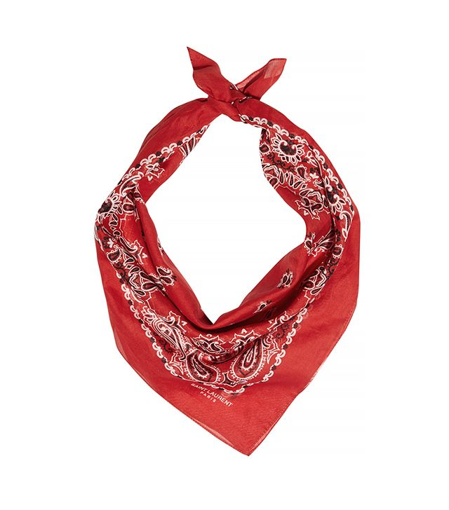 Saint Laurent Paisley-Print Cotton Bandana Scarf