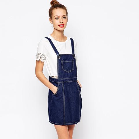Glamorous Petite Denim Pinafore Dress