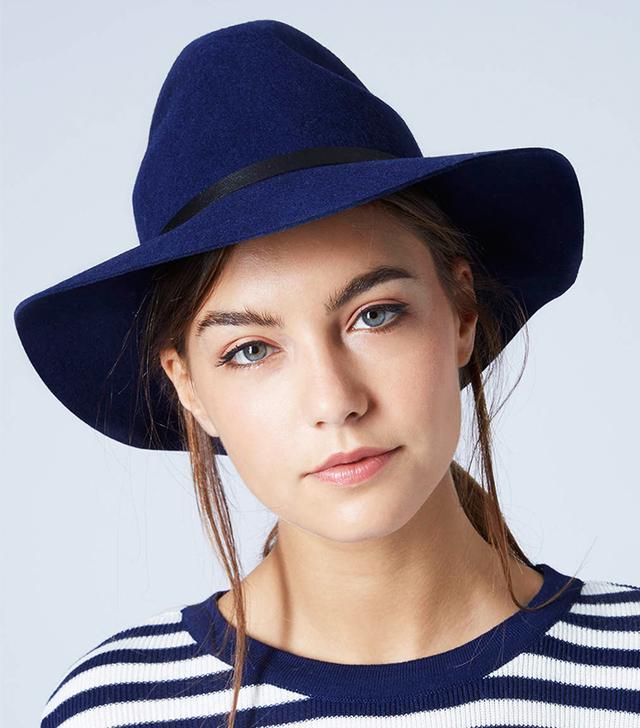 Topshop PU Band Fedora Hat