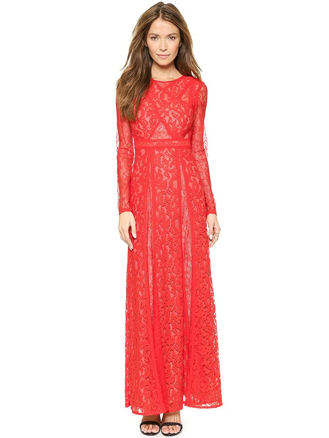 BCBGMAXAZRIA Kallie Lace Maxi Dress