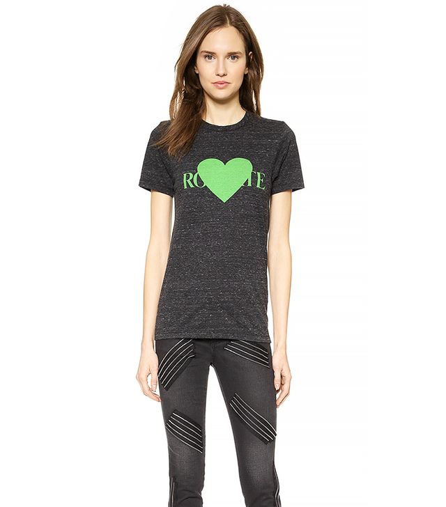Rodarte Rohearte With Green Heart T-Shirt