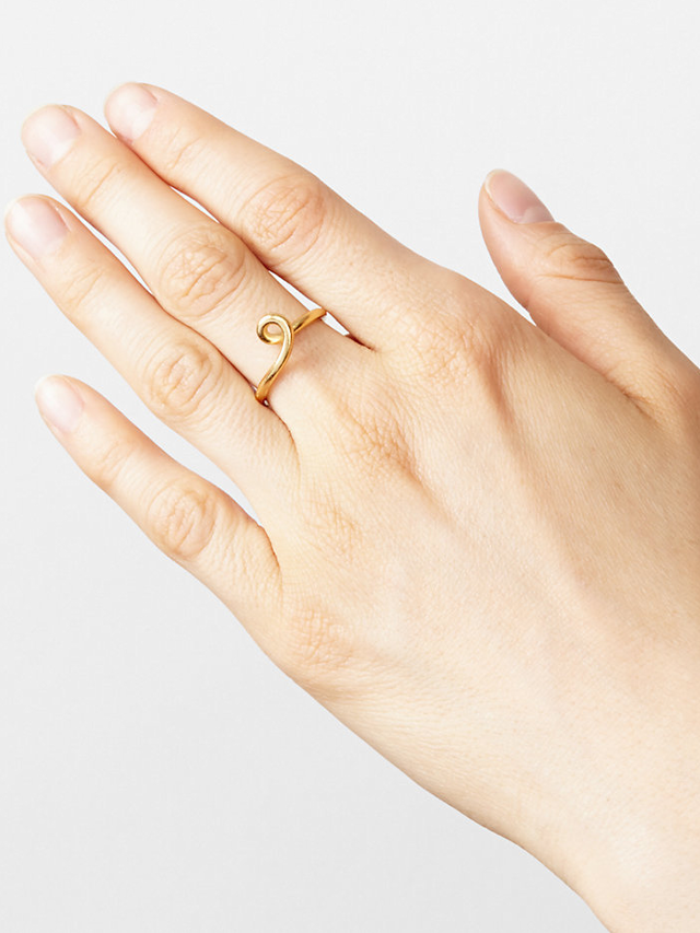 Vanessa Lianne Cobra Ring Gold Vermeil