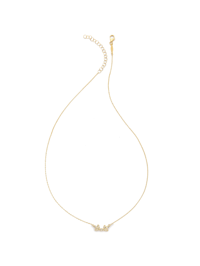 Jacquie Aiche JA Leaf Necklace