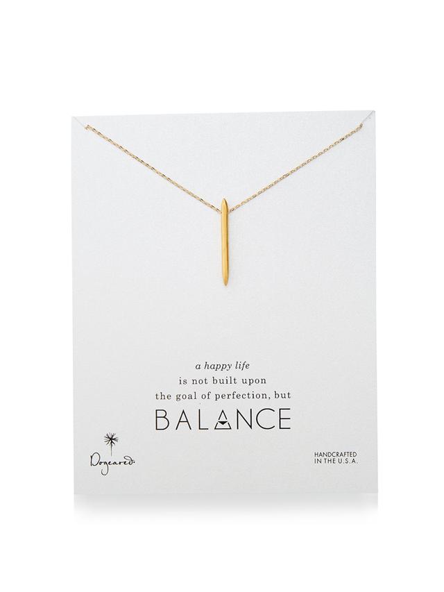 Dogeared Balance Spiky Spear Pendant Necklace