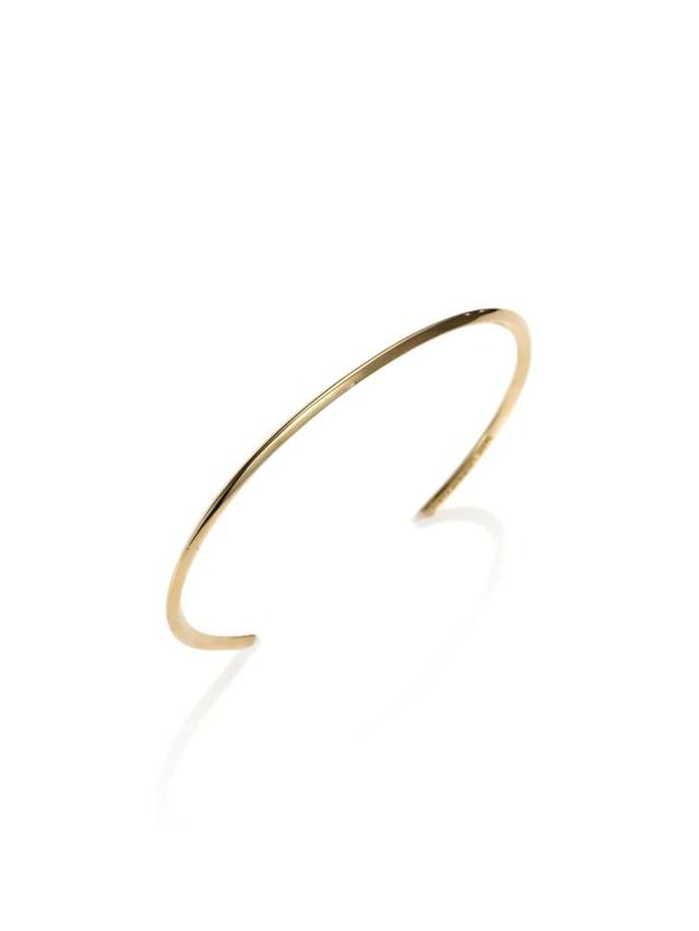 Saint Laurent Knife-Edged Vermeil Bracelet