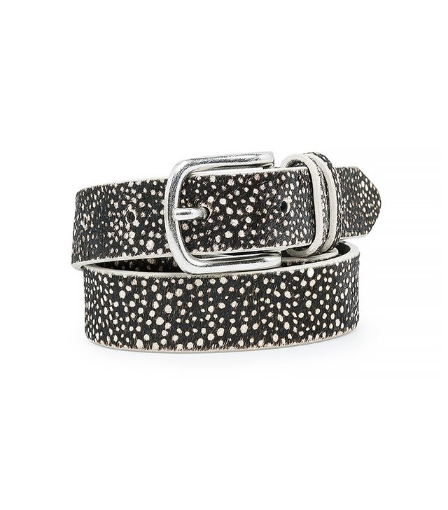 Mango Polka-Dot Leather Belt