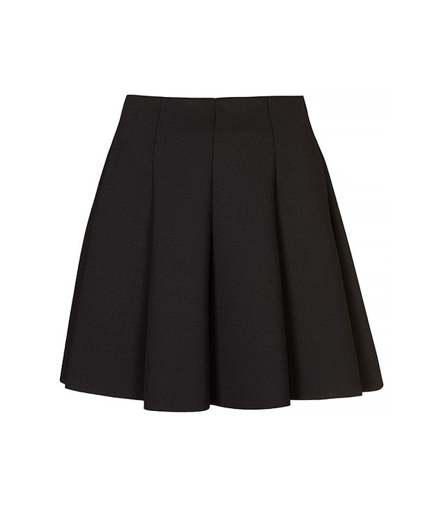 Topshop Black Scuba Flippy Skirt
