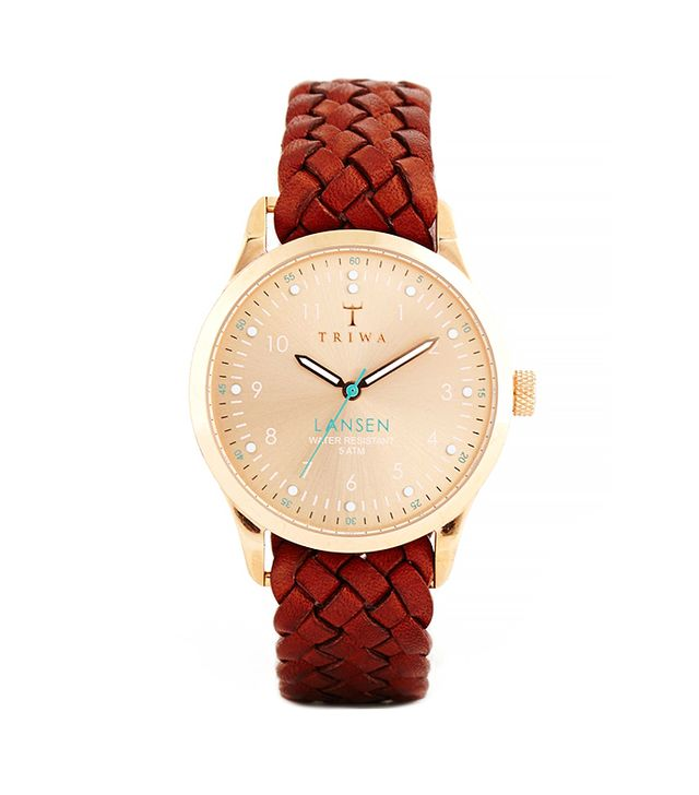 Triwa Lansen Rose Gold Braided Strap Watch