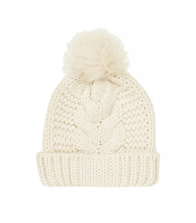 Topshop Cable Pom Beanie