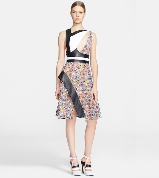 Prabal Gurung Cutout Floral Lace Dress