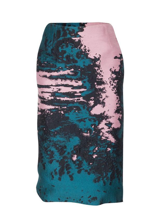 MSGM Printed Jacquard Pencil Skirt