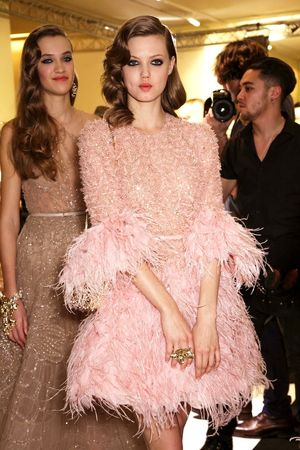 Backstage At Elie Saab's Dreamy Spring 2015 Couture Show