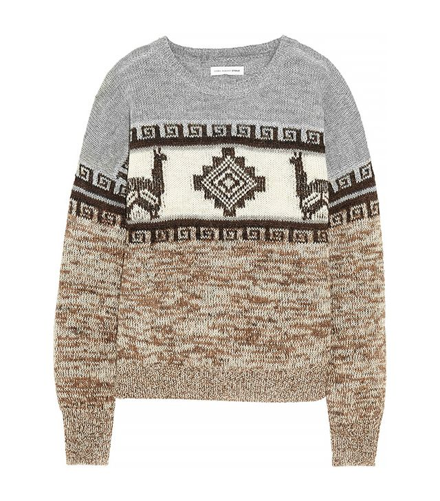 Etoile Isabel Marant Remington Intarsia Alpaca-Beldn Sweater