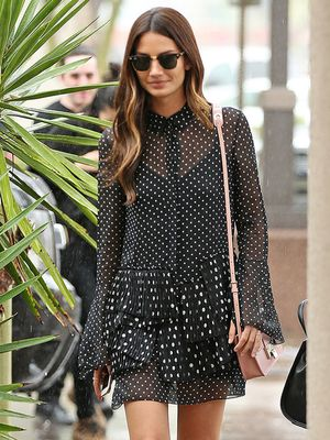 Lily Aldridge Plays Up The Sweet Side Of Polka Dots