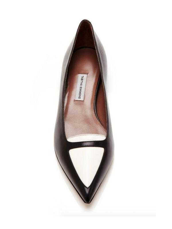 Tabitha Simmons Alexa Two-Tone Leather Flats
