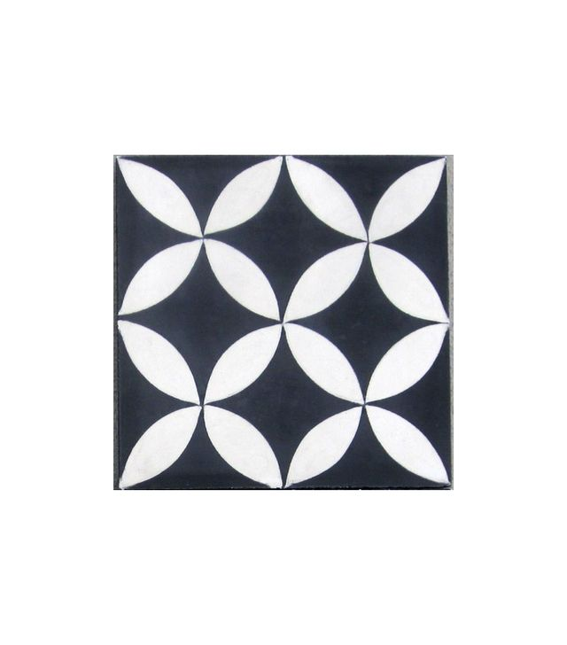 Villa Lagoon Tile Circulos Black and White Cement Tile