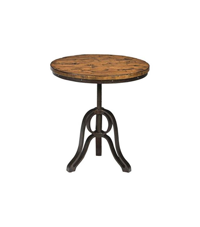 Lamps Plus Cranfill Aged Pine Round Accent Table