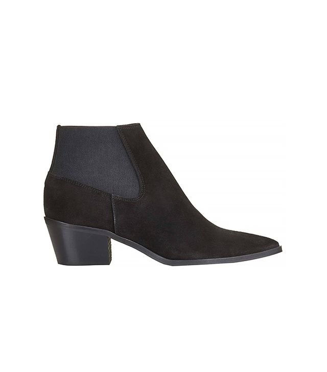 Topshop Marr Pointed Mid-Heel Ankle Boots