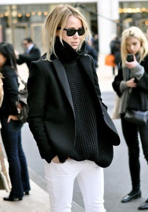 5 Black And White Winter Looks To Try Now