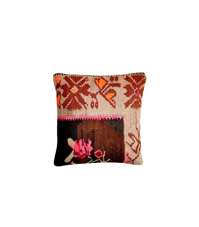 "Christian Rathbone 16"" Neon Floral Kilim Pillow"