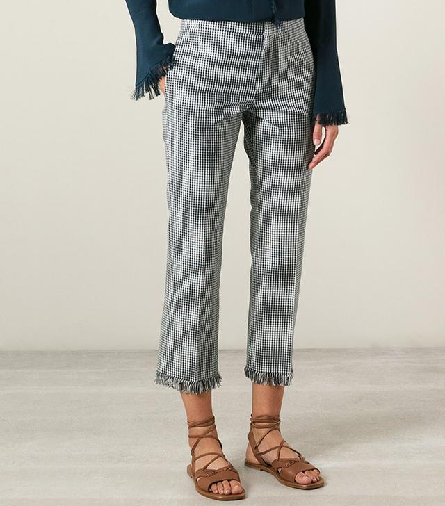 Chloé Gingham Check Trousers