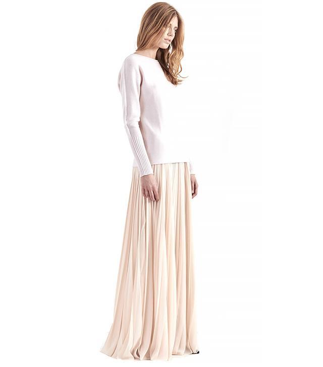 Tess Giberson Long Pleated Skirt