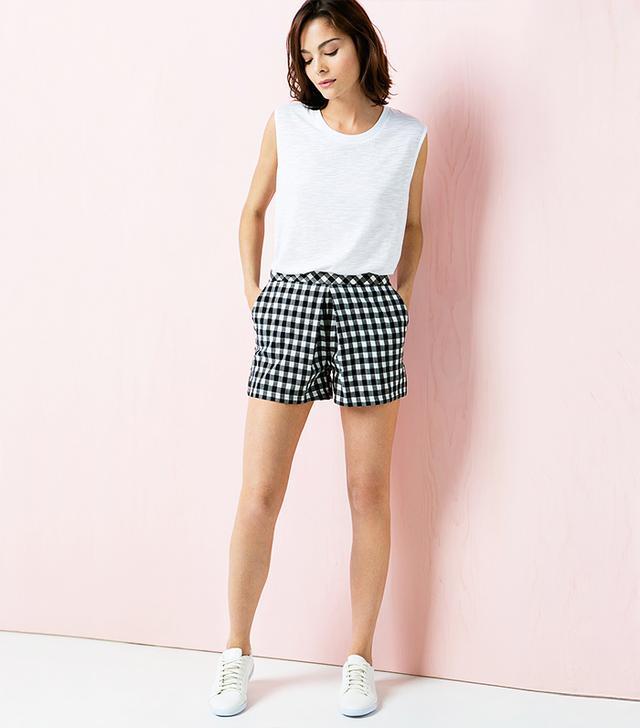 Mango Gingham Check Shorts