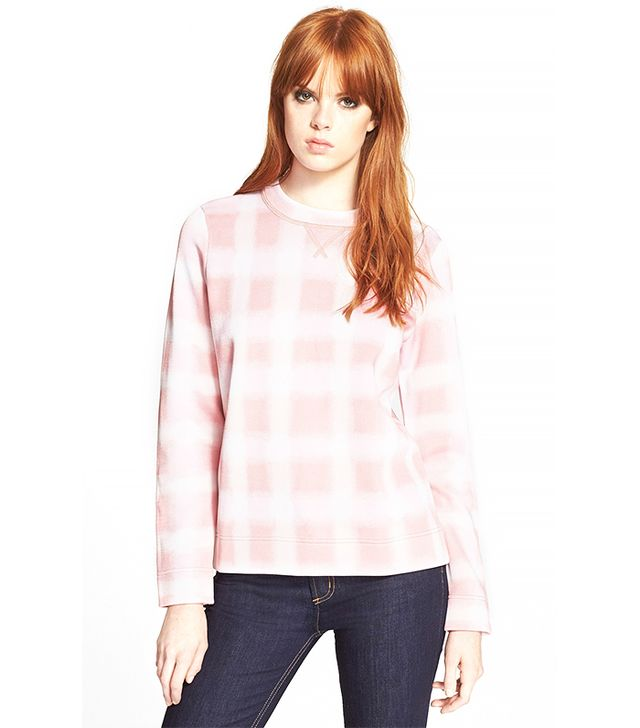 Marc by Marc Jacobs Blurred Gingham Print Sweater