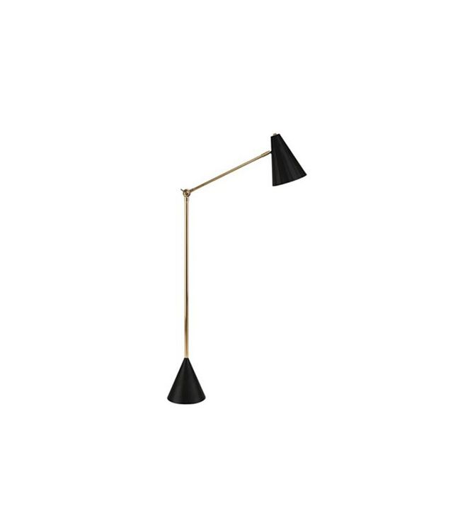 Jonathan Adler Black and Brass Antwerp Floor Lamp