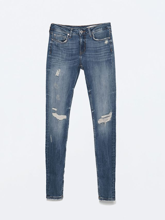 Zara Soft Ripped Superskinny Jeans