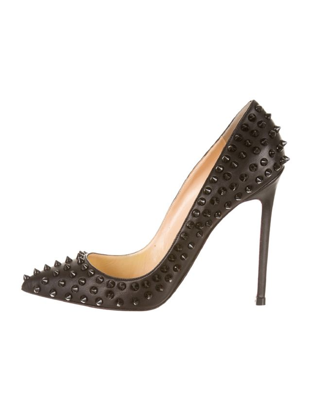 Christian Louboutin Pigalle Spiked Leather Pumps