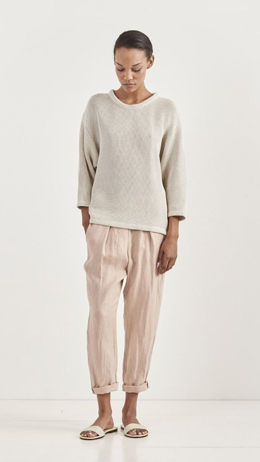Raquel Allegra Linen Easy Pants