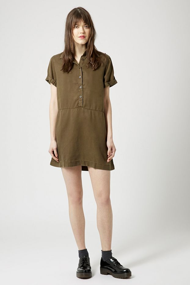 Topshop Petite Exclusive Casual Shirt Dress