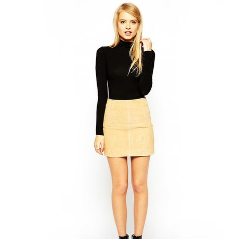 Mini Skirt in Suede
