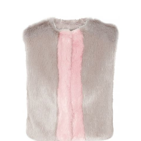 Perry Two-Tone Faux Fur Gilet