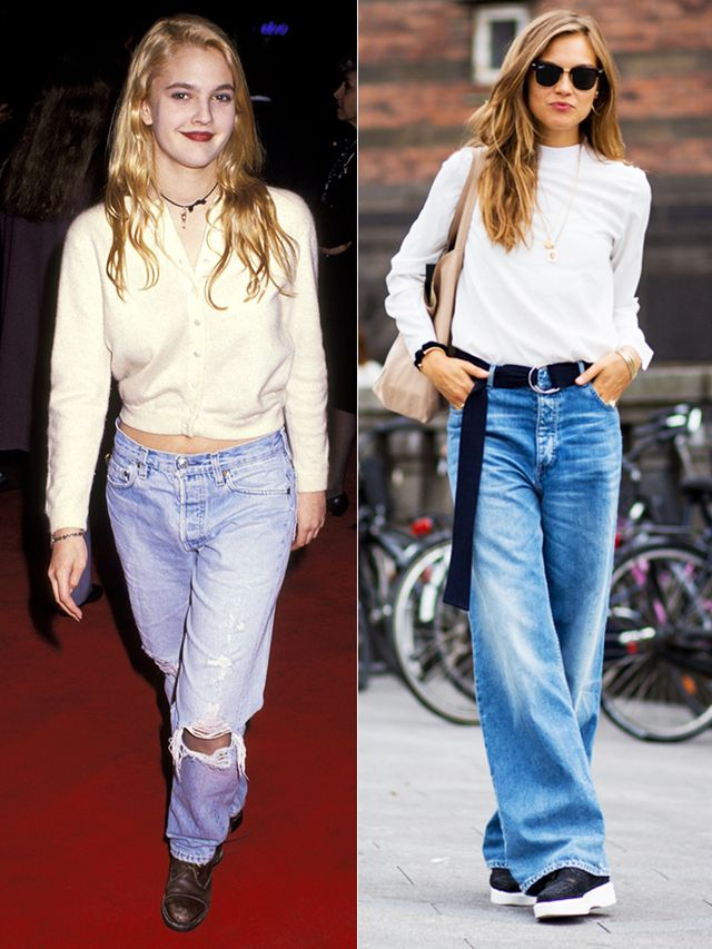 Drew Barrymore unofficially originated the truly slouchy jean way back in 1991—and we've been seeing it lately on the streets of major cities from Copenhagen (above) to Paris.