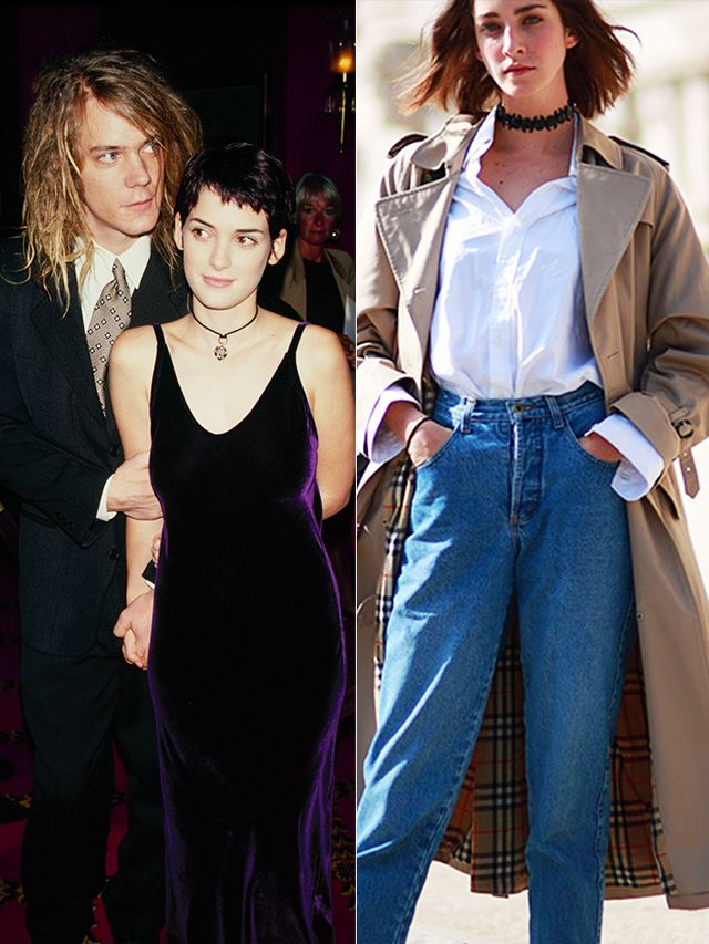 If the choker was good enough for Winona, consider it good enough for us. As we already observed, the neck-hugging accessory is officially back—and we're really not mad about it.