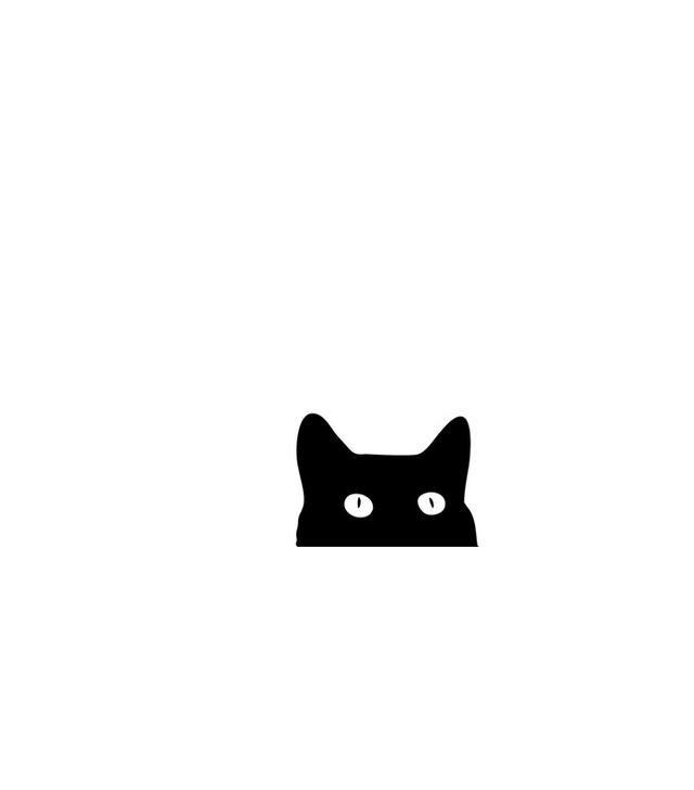 Good Sense Black Cat Art Print
