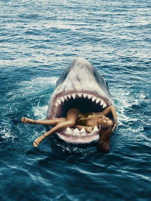 Go Behind the Scenes of Rihanna's Harrowing Shark Photoshoot