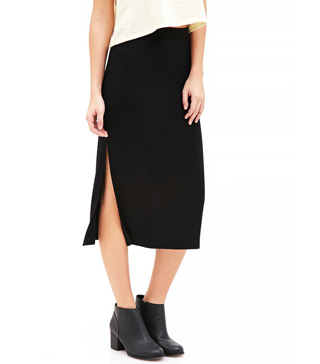 Forever 21 High Slit Midi Skirt
