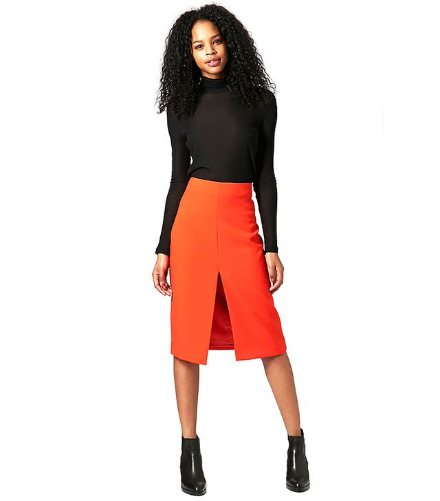 Topshop Crepe Split Pencil Skirt by Boutique