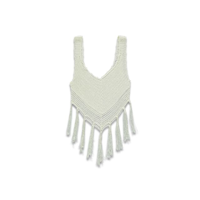Forever 21 Crochet Tank Top with Fringe Trim