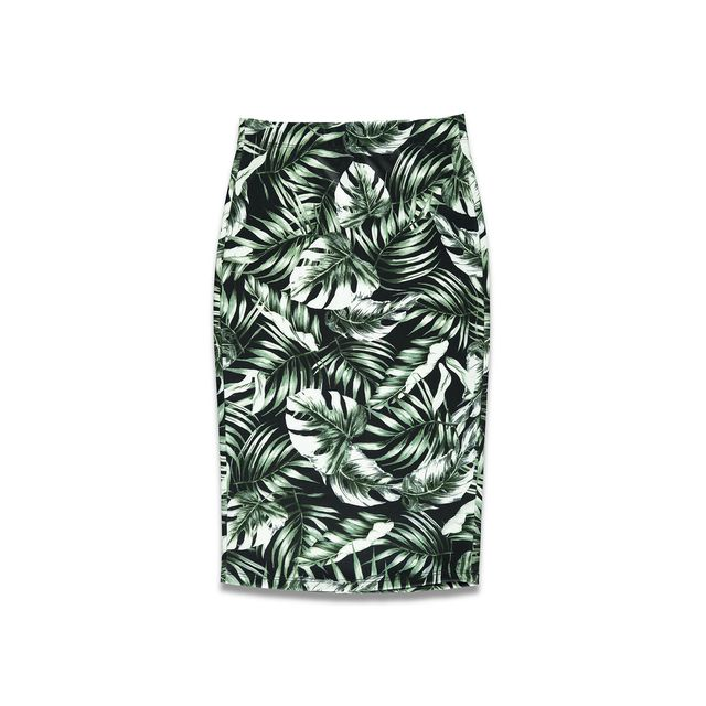 Forever 21 Tropical Print Pencil Skirt