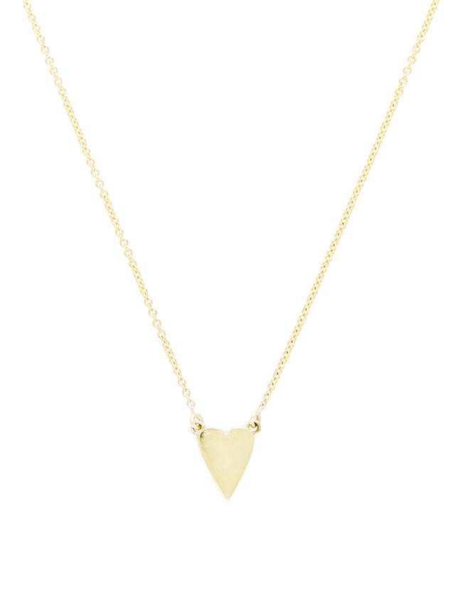 Jennifer Meyer xo Jessica Alba Gold Heart Pendant Necklace