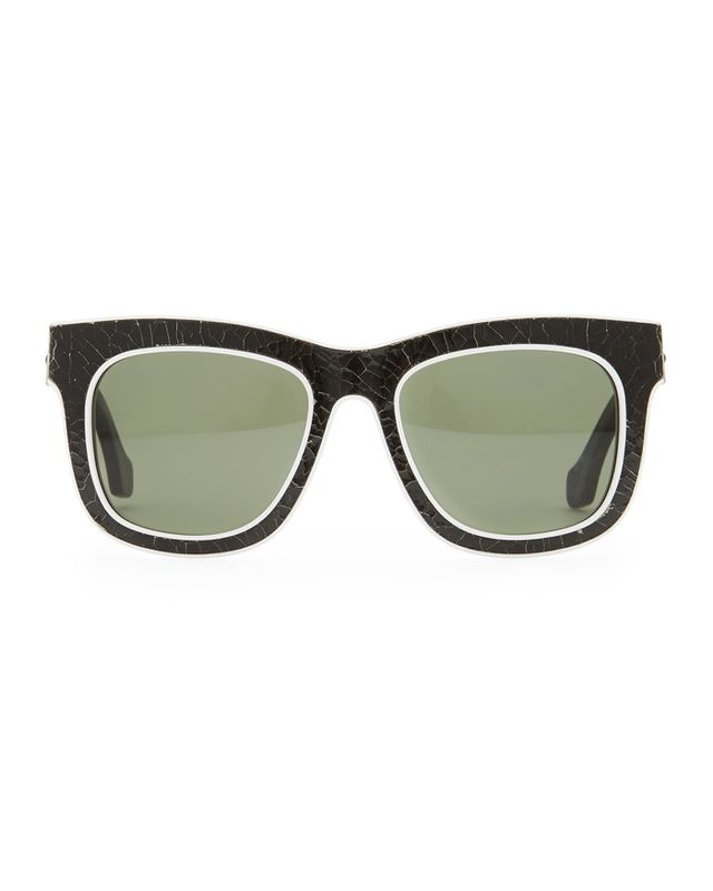 Balenciaga Cracked Square Sunglasses