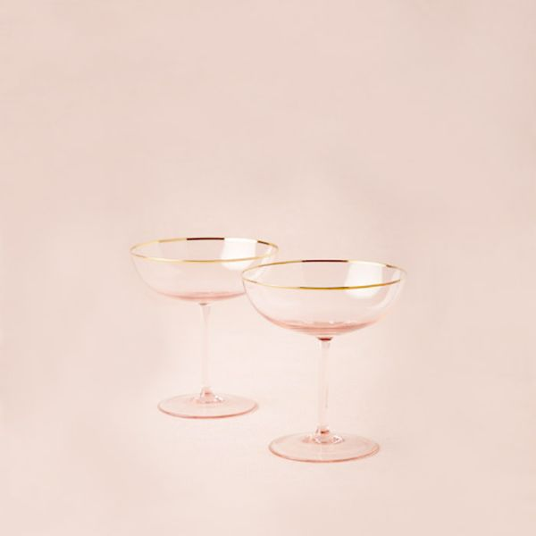 BHLDN Pair of Rosy-Cheeked Coupes