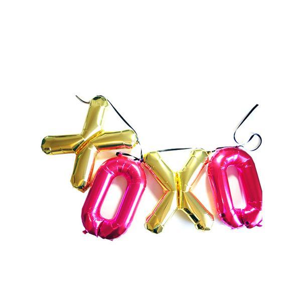Etsy Mylar XO Balloon Banner