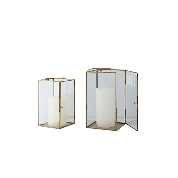 West Elm Brass Lanterns